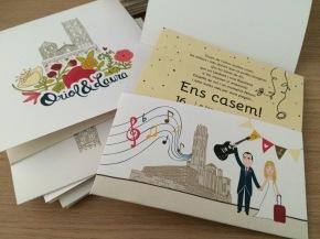 Invitación de boda Oriol y Laura
