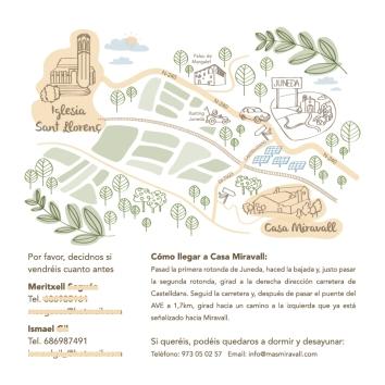 Mapa ilustrado boda Isma y Txell