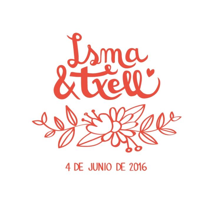 Logo boda Isma y Txell